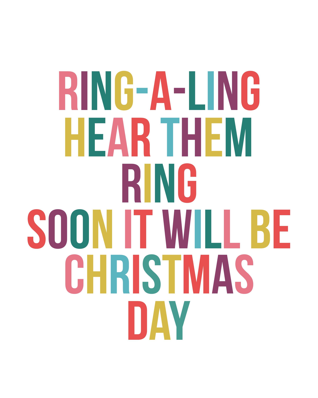 Ring-a-Ling Christmas Print